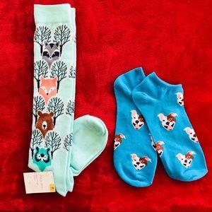 Xhilaration 2 Pair Variety Animal Socks